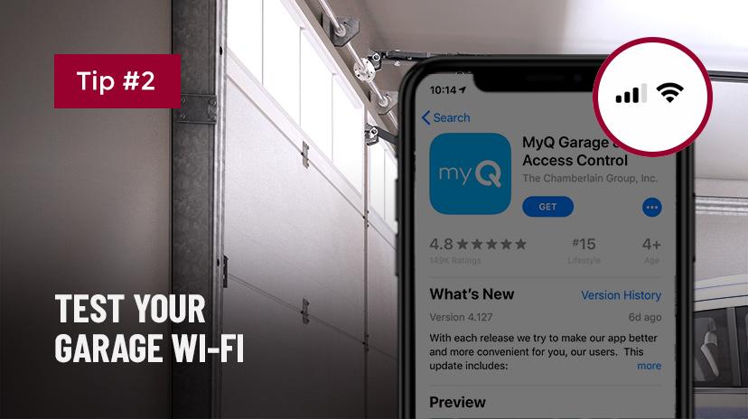 Pruebe la wi-fi de su garaje